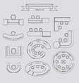 Counter information outline icon vector