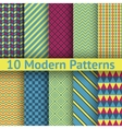 10 different modern seamless patterns tiling vector