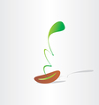 Seed germination abstract plant birth growth eco vector