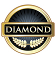 Diamond black label vector