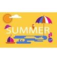 Summer time seasonal vacation at the beach vector