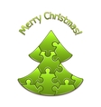 Christmas tree maded from puzzles vector
