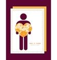 Golden art flowers man in love silhouette frame vector