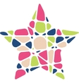 Abstract star mosaic background vector