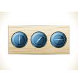 3d dialson wood vector
