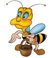 Wasp and handbasket vector