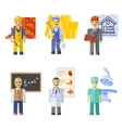 Profession characters set vector