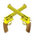 Pistol revolvers vector