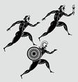 Greek runners vector
