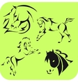Light horses - set vinyl-ready vector
