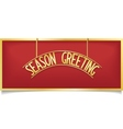 Happy holiday design lettering on gold signboard vector