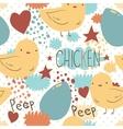 The cute little chicken seamless pattern vector