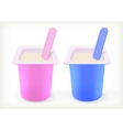 Fruit yogurt vector