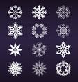 Snowflake winter set vector