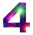 Number of colorful firework four vector