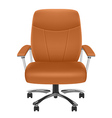 Leather chair vector