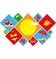 Colorful set of summer icons happy holidays vector