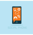 Social phone concept flat design vector