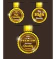 Golden vintage sticker vector