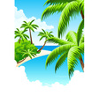 Summer vacation background vector