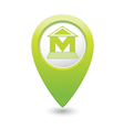 Museum icon green pointer vector