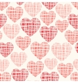 Sketchy seamless pattern with hearts vector