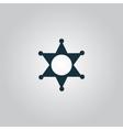 Sheriff star icon vector
