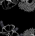 Romantic background with stylized flowers vector