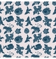 Vintage white and blue floral seamless pattern vector