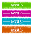 Web banners template in four colors vector