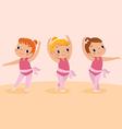 Dancing girls vector