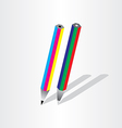 Color pencil rgb cmyk vector