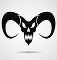 Black demon skulls vector
