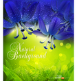 Romantic background with blue flowers vector