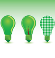 Green bulb color vector