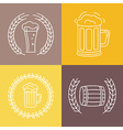 Beer logos and signs vector