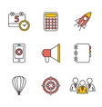 Flat set of modern icons and symbols on vector