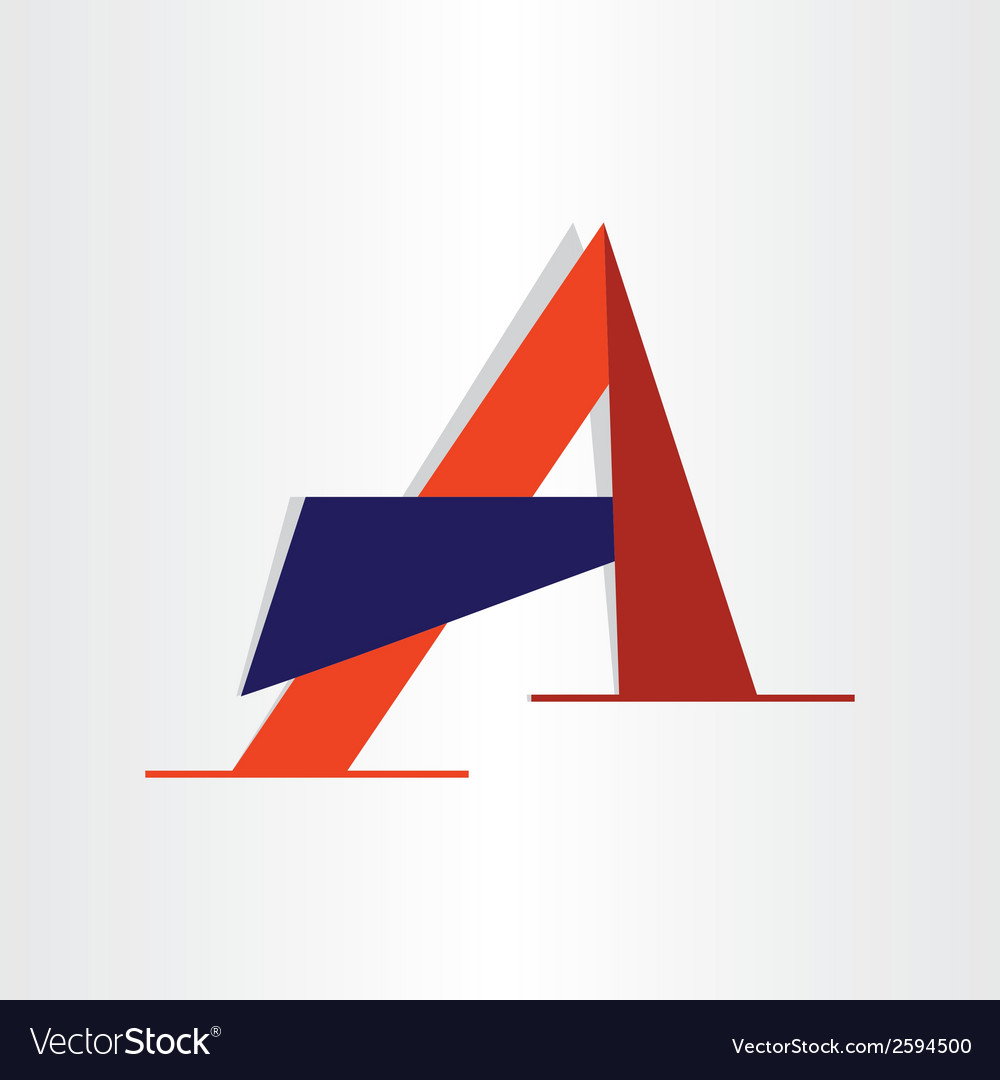 Abstract character letter a typography vector | Price: 1 Credit (USD $1)