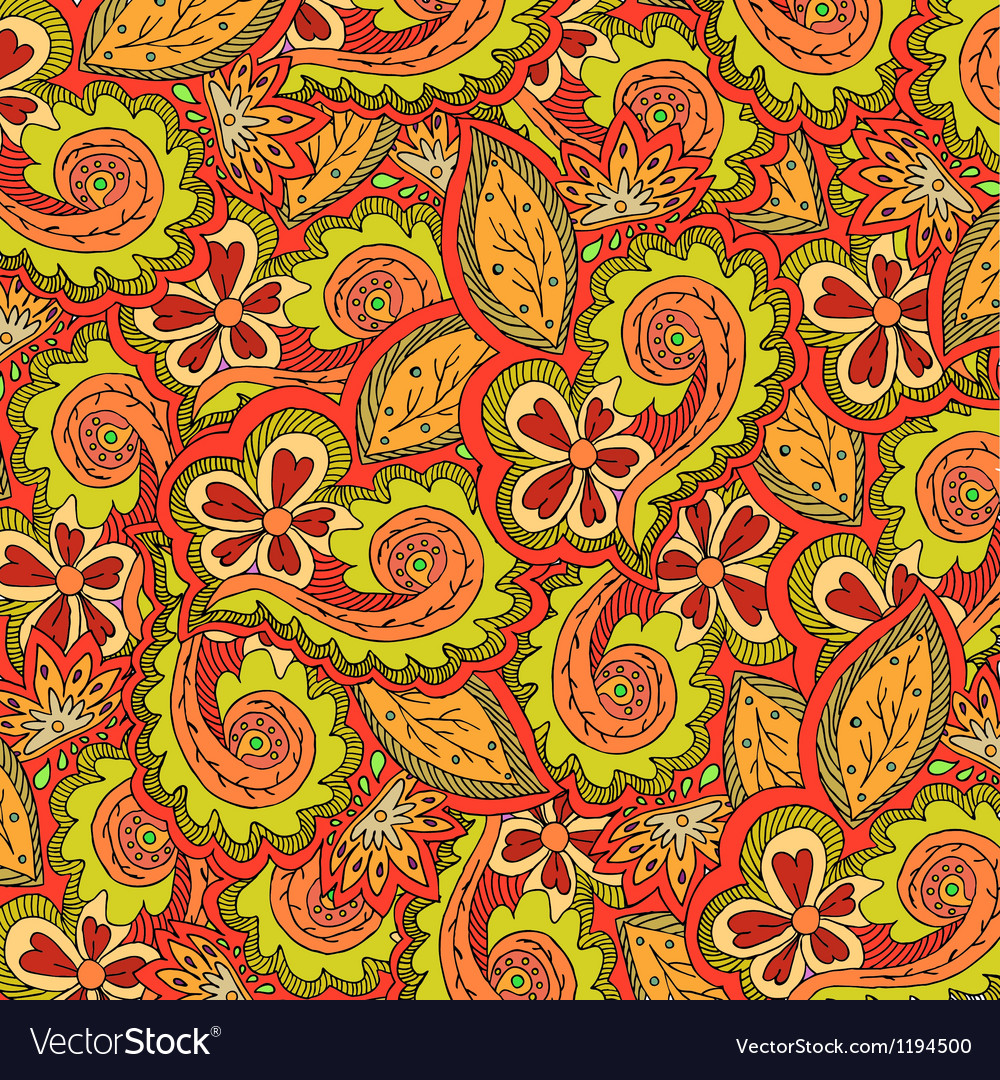 Abstract floral colorful ornate vector | Price: 1 Credit (USD $1)
