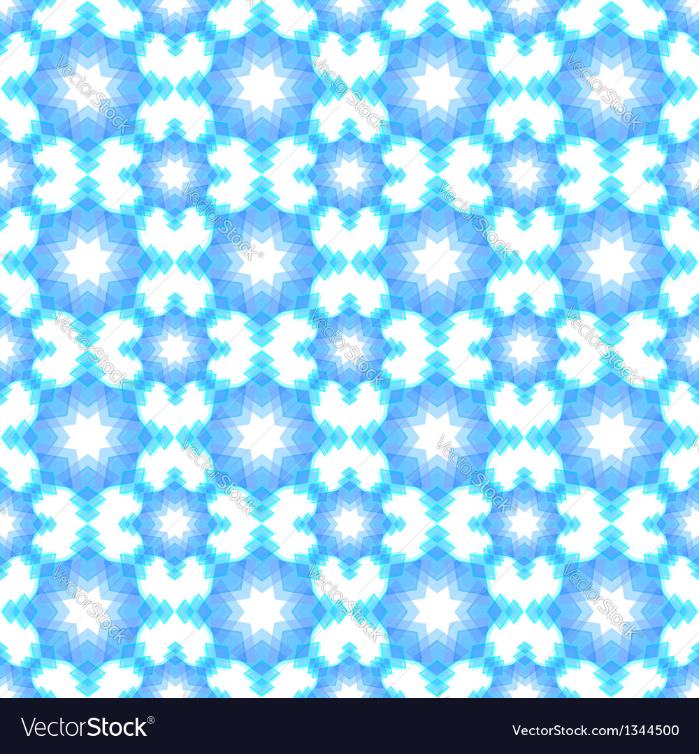 Abstract snowflake puzzled seamless pattern backgr vector | Price:  Credit (USD $)