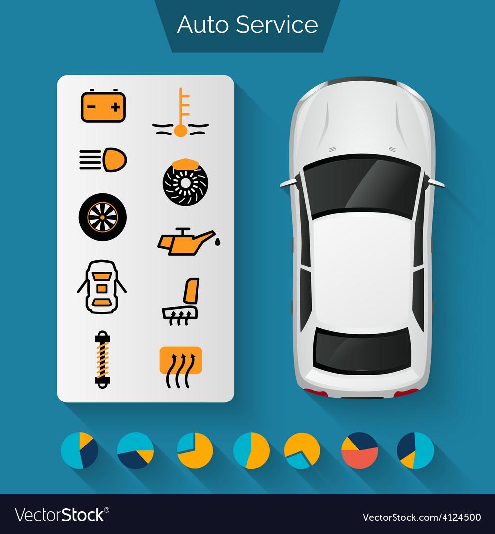 Auto service infographics vector | Price: 1 Credit (USD $1)