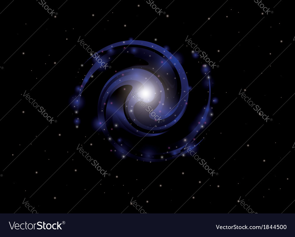 Background with spiral galaxy vector | Price: 1 Credit (USD $1)