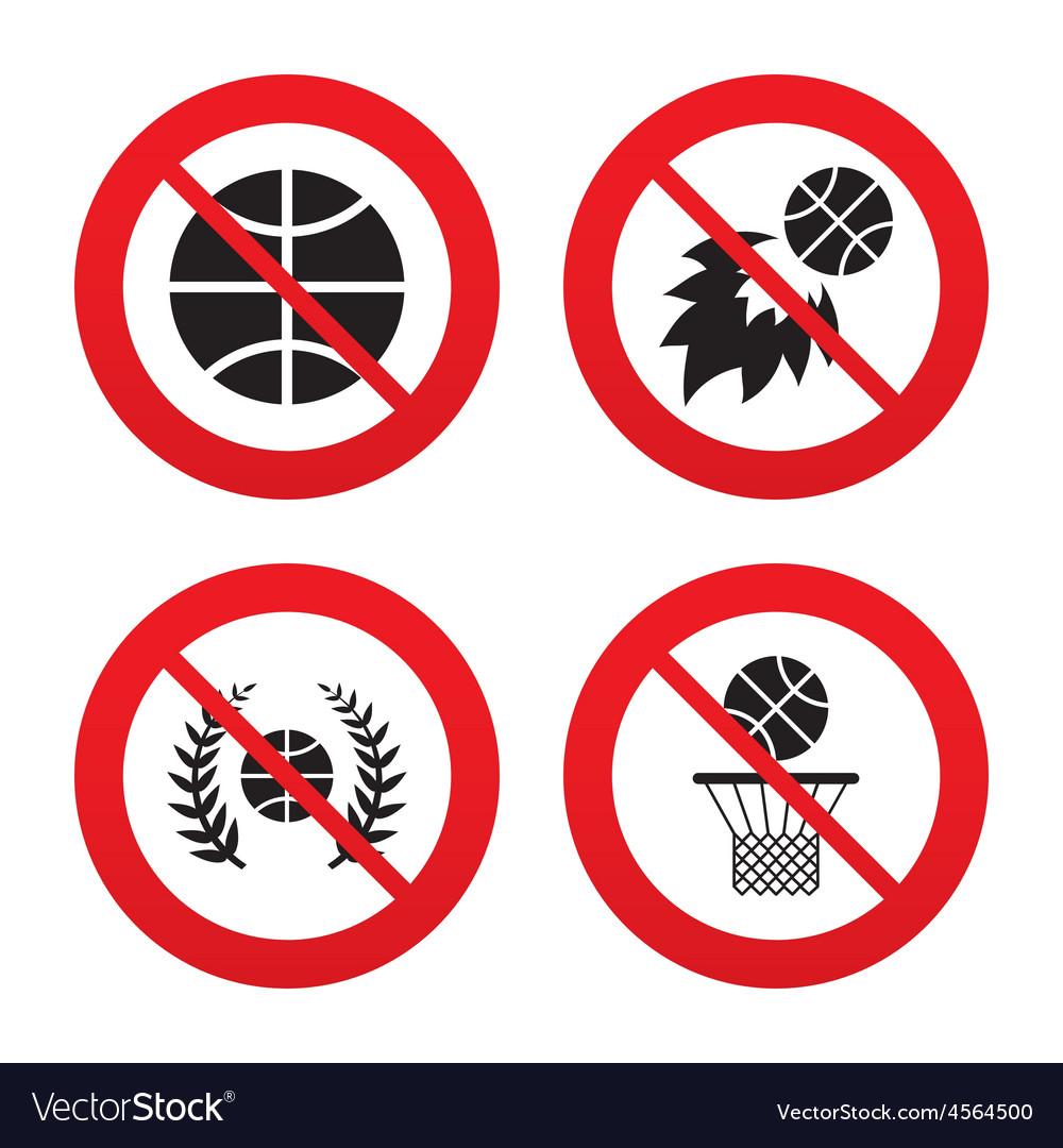 Basketball icons ball with basket and fireball vector | Price: 1 Credit (USD $1)