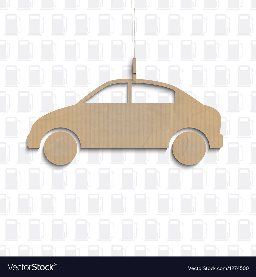 Car cut out of cardboard vector | Price: 1 Credit (USD $1)