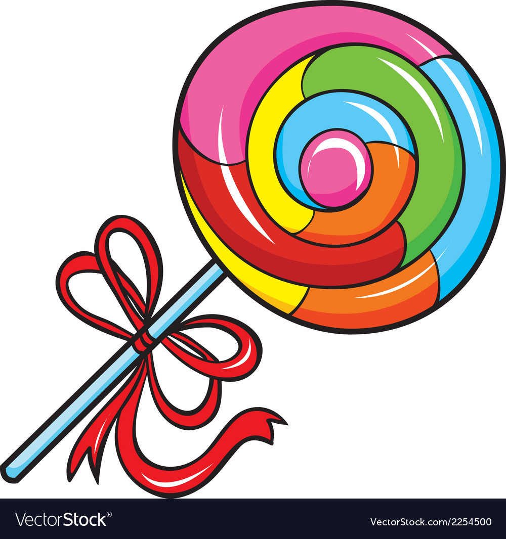 Colorful lollipop on white background vector | Price: 1 Credit (USD $1)
