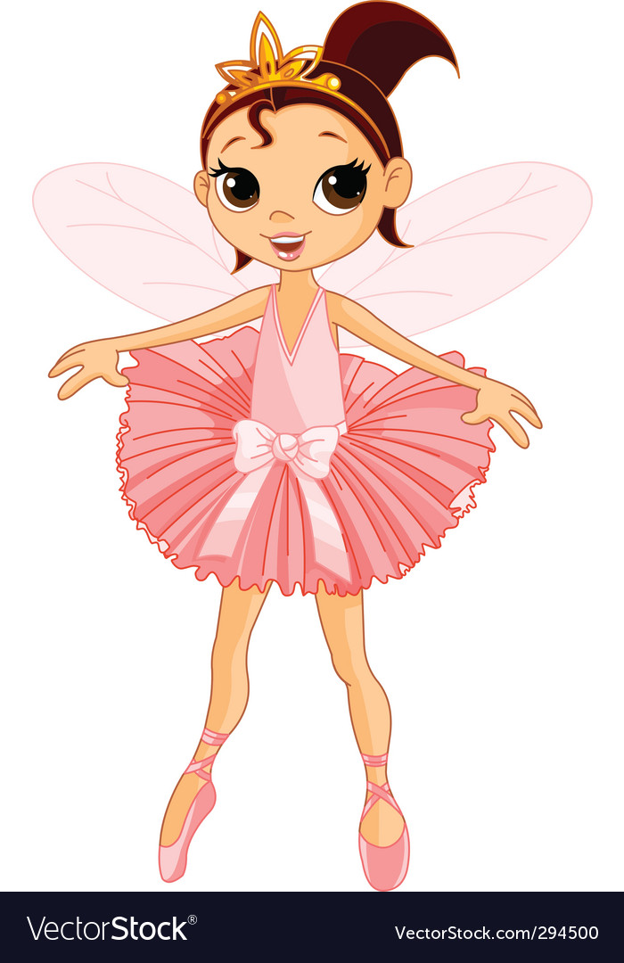 Cute fairy ballerina vector | Price: 3 Credit (USD $3)