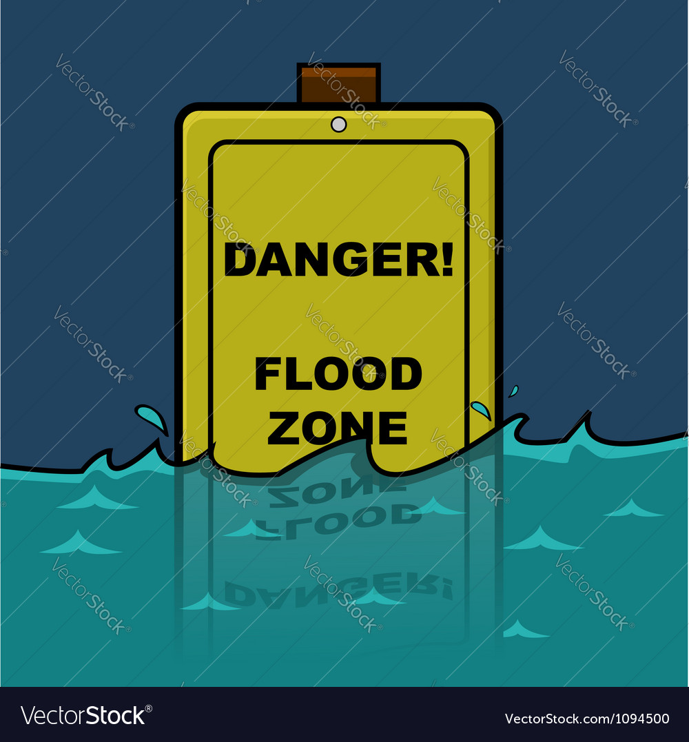 Flood zone vector | Price: 3 Credit (USD $3)