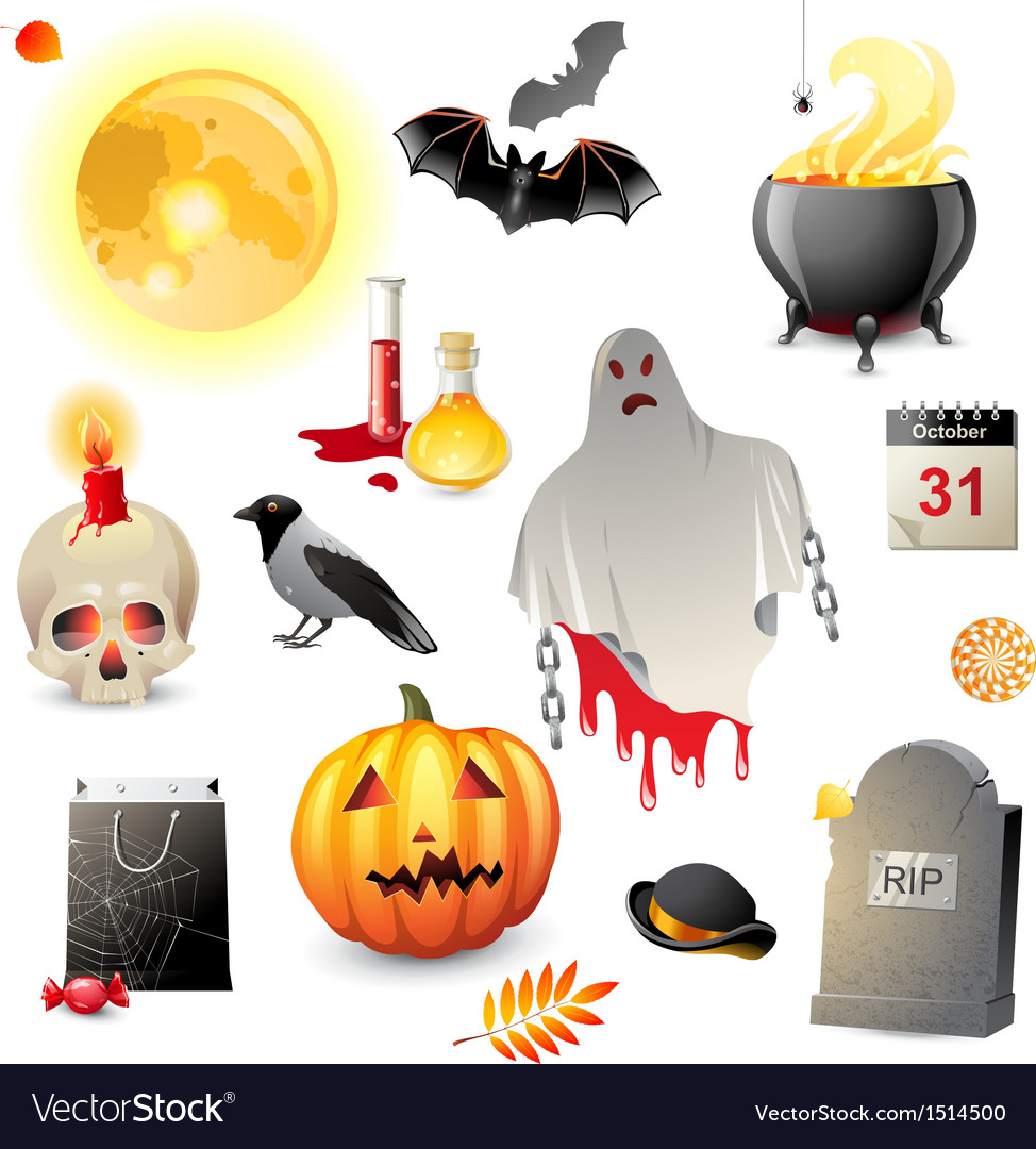 Great halloween icons set vector | Price: 3 Credit (USD $3)