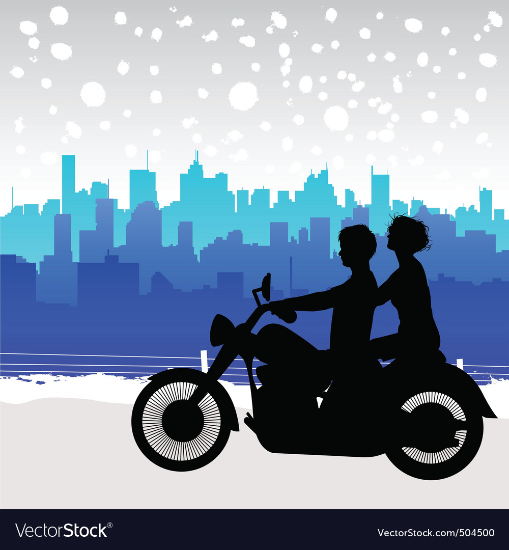 Motorcycle travel vector | Price: 1 Credit (USD $1)