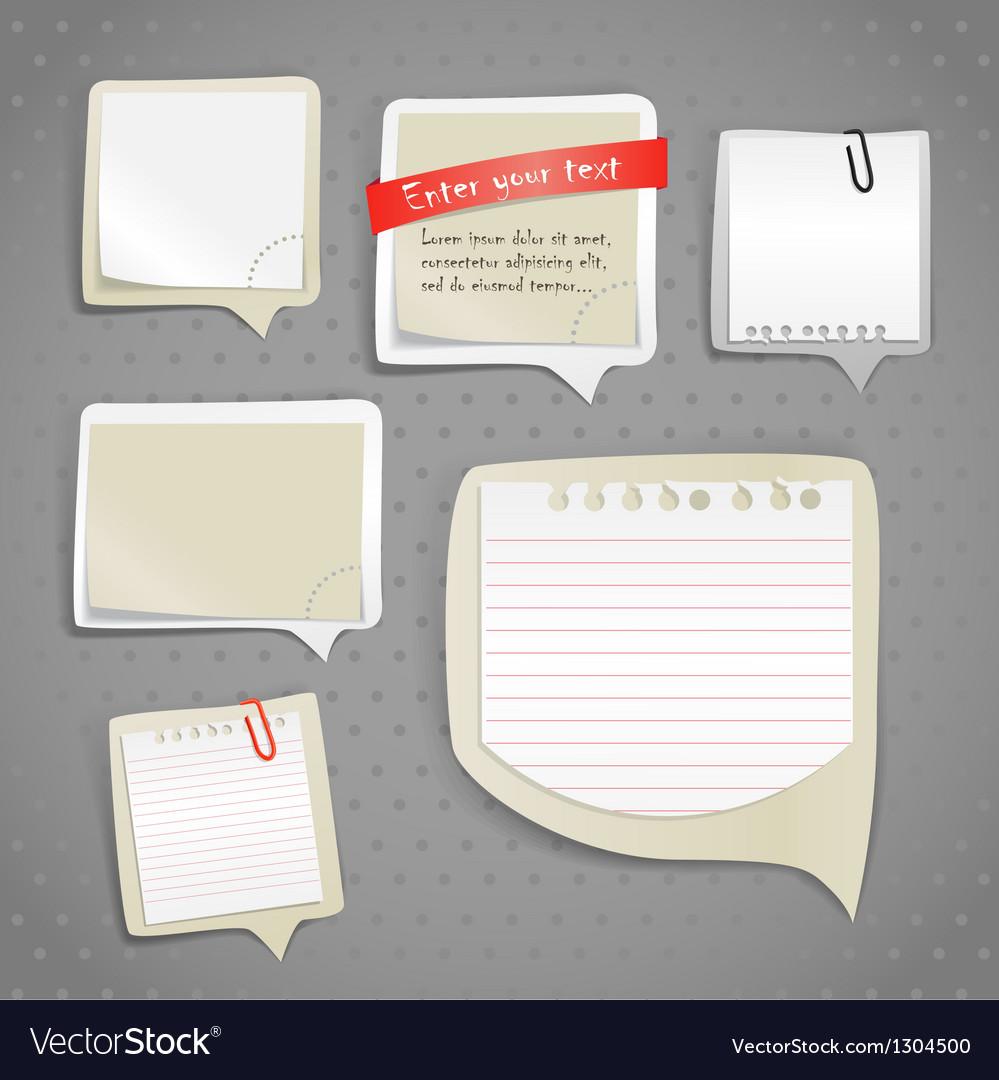 Paper text bubbles clip-art vector | Price: 1 Credit (USD $1)